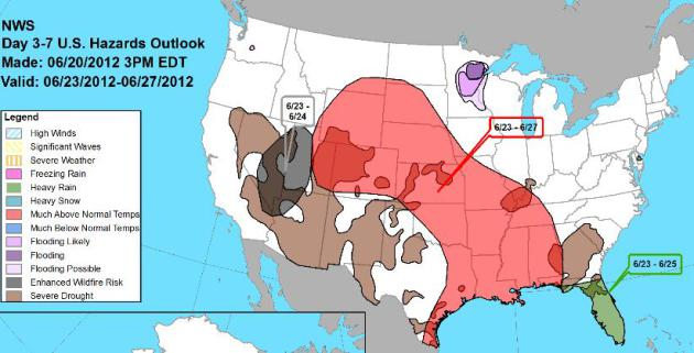 ... from Las Vegas to Salt Lake City, flooding rains for much of Florida
