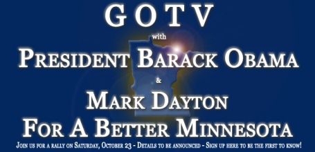 Obama will rally for Mark Dayton