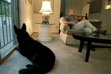 Dayton with Dakota, standing guard in September/Star Tribune file