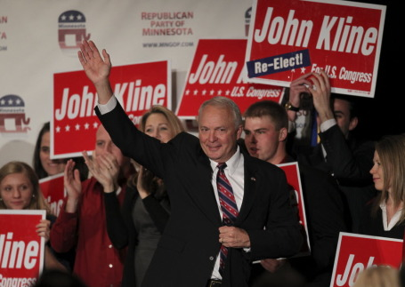 Rep. John Kline on election night 2010/Star Tribune file