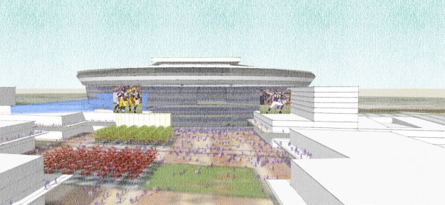 Drawing of proposed Ramsey County Vikings site