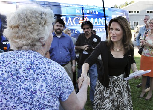Bachmann campaigning in New Hampshire