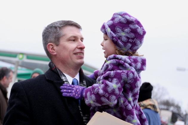 Rep. Kurt Bills at his campaign announcement