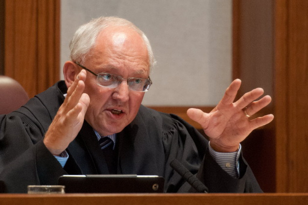 Justice Paul Anderson, as the Supreme Court heard arguments over a voter ID case this summer