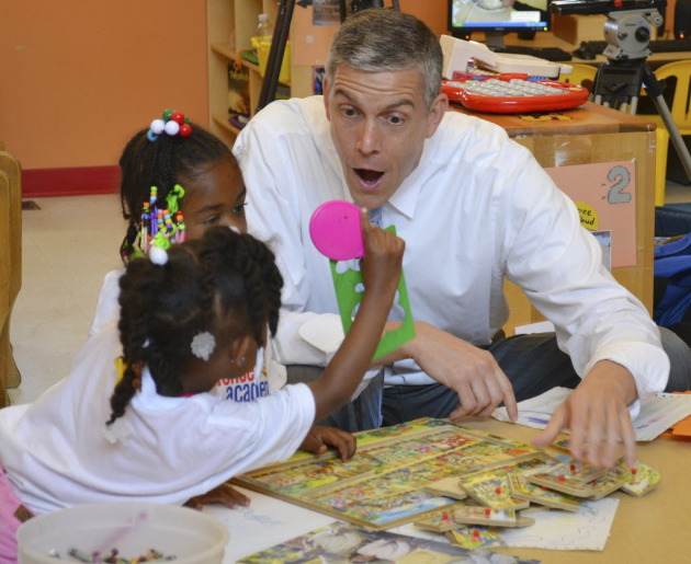 Education Secretary Arne Duncan during a Kentucky visit in June