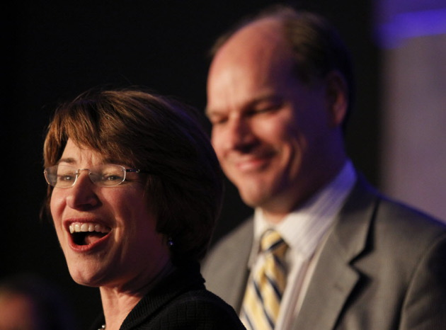 U.S. Sen. Amy Klobuchar in November, upon winning reelection with 65 percent of the vote