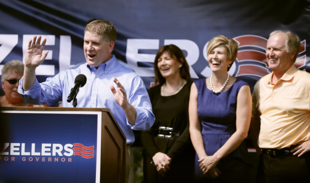 Rep. Kurt Zellers announcing his campaign for govenror in June/Star Tribune file