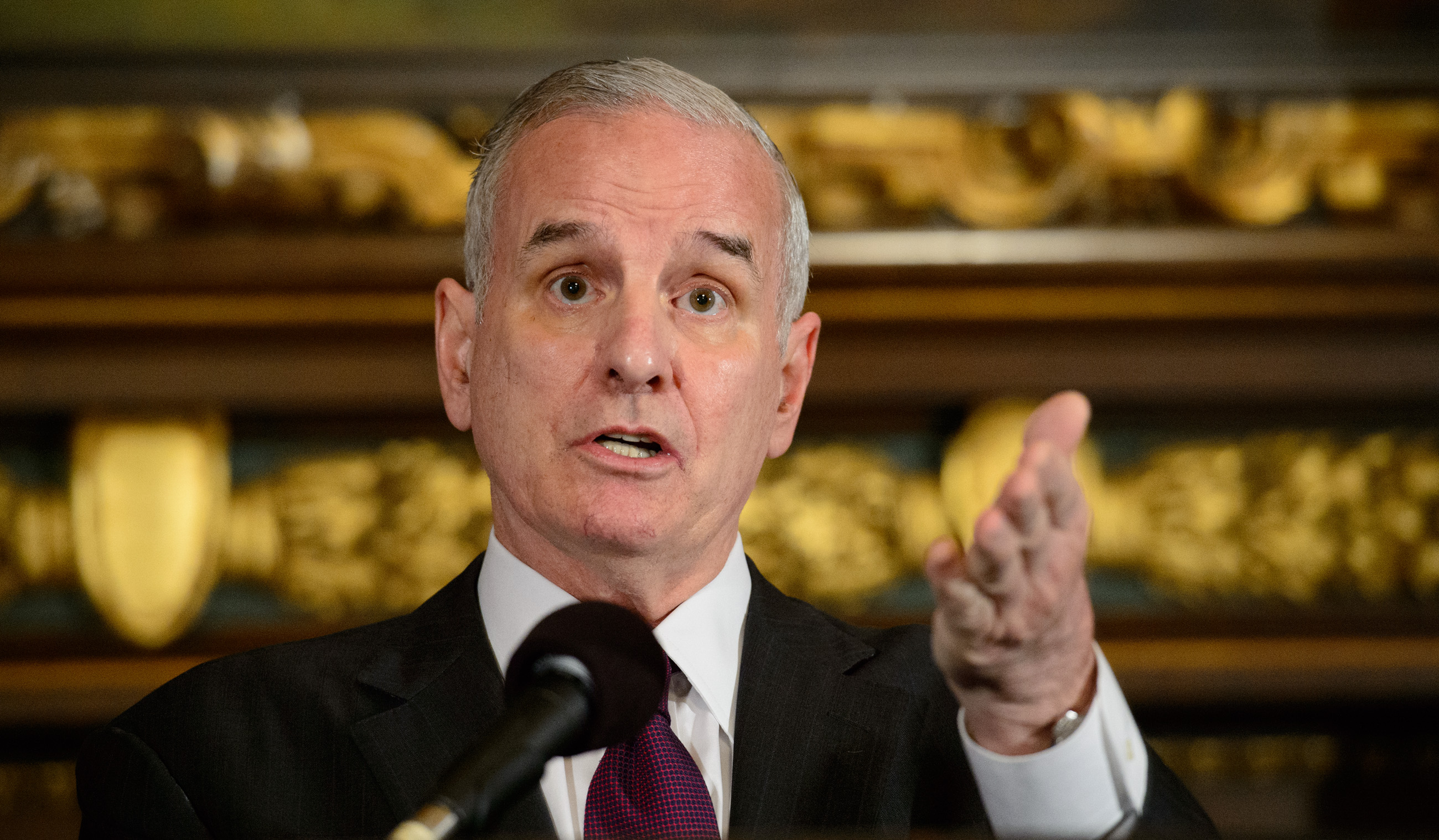 Gov. Mark Dayton on Monday // source: Glen Stubbe