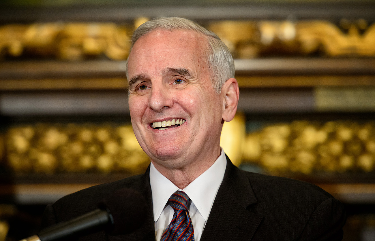 Gov. Mark Dayton on Tuesday/Glen Stubbe, Star Tribune