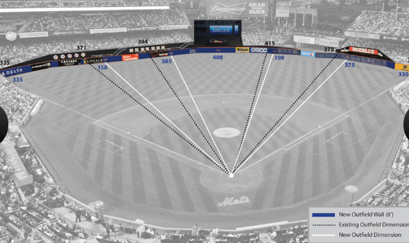 Rendering of the new dimension at Citi Field in New York