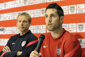 Klinsmann, left, with Bocanegra