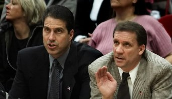 Here's Randy Wittman and Flip Saunders in 2001, just because