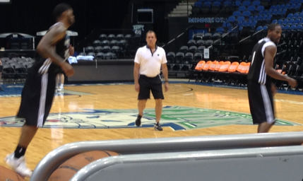 Flip Saunders, in his element