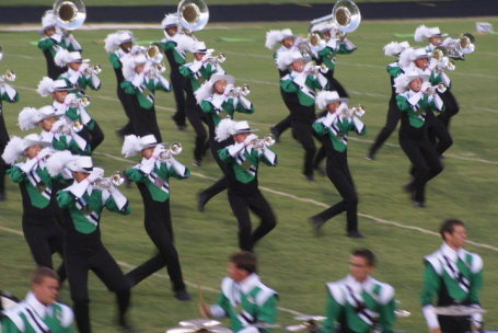 The Cavaliers speed across the field during a recent competition in Chesapeake, Va. (Photo: Bob Cannon)
