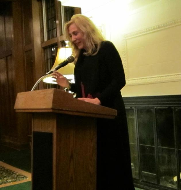 "St. Paul author N.M. Kelby read a lush, sensuous passage from her lush, sensuous novel, ""White Truffles in Winter."""
