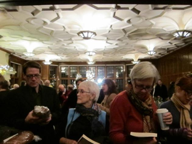 And then everyone surged forward to buy books and St. Agnes holiday bread. All the proceeds from the bread sales went to support Everyday Poems for City Sidewalks, a program of  St. Paul Public Art.