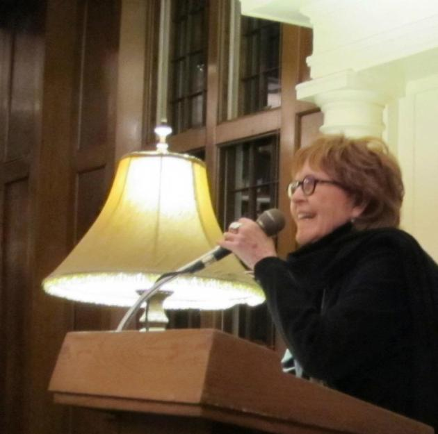 They were all here to see this woman, Carol Connolly, St. Paul's poet laureate, as well as the writers she invited to read five days before Christmas.