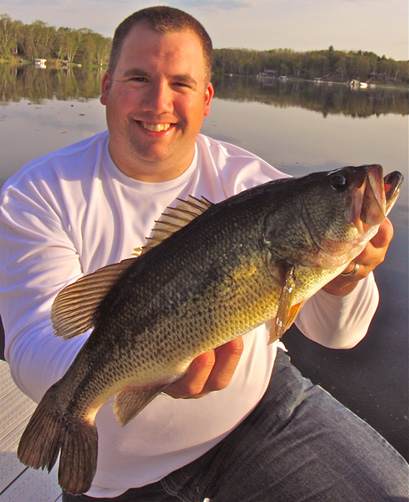 Ron Hustvedt with a dandy  largemouth bass