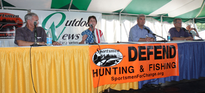"Candidates squared off in an ""Outdoors-Issue"" based debate at Game Fair in August"
