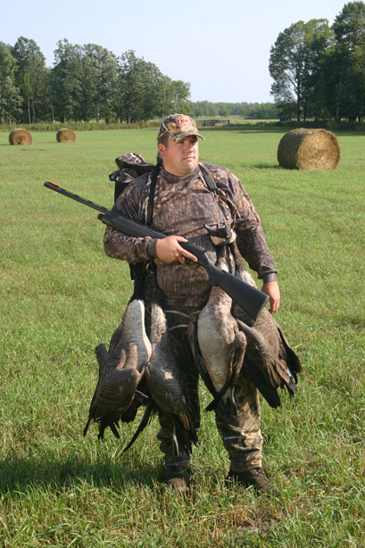 Author Ron Hustvedt with a limit of early season geese