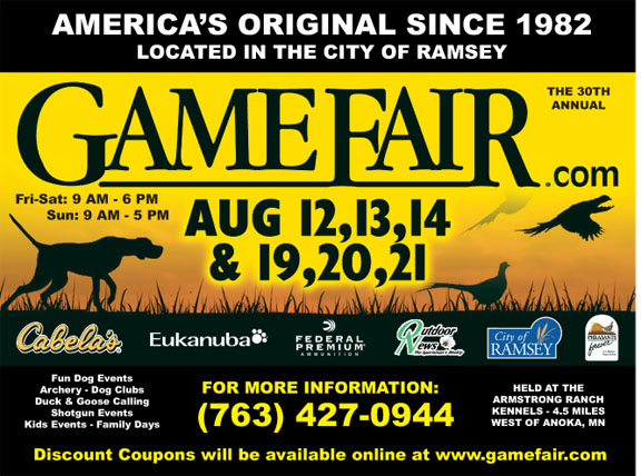 The 30th annual Game Fair is worth a visit!