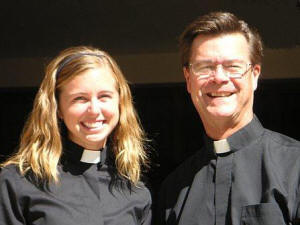 The Rev. Meta Carlson and the Rev. Mark Hallonquist