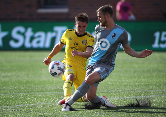 Ethan Finlay played against Minnesota United when the Columbus Crew SC played at TCF Bank Stadium on July 4.