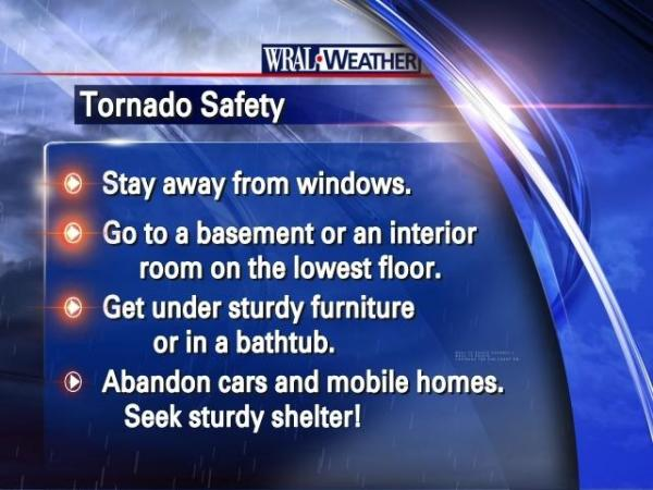Safety measures for tornadoes