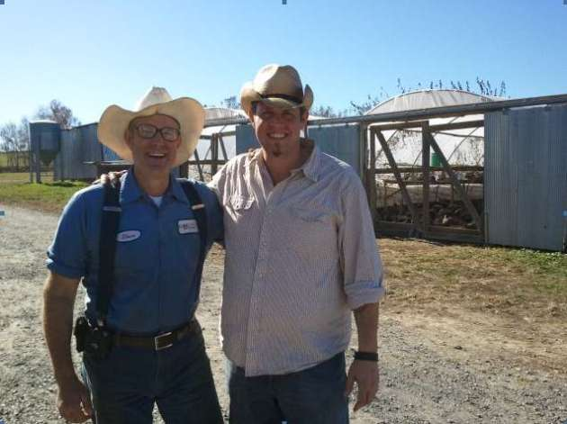 Joel Salatin of Polyface Farms with Scott Pampuch