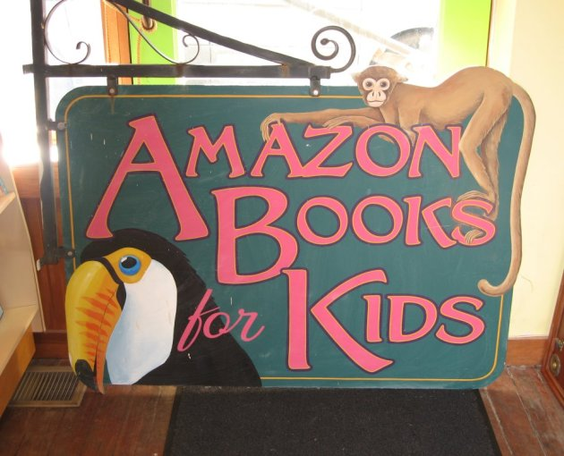 The store's kidbooks sign is now for sale on E-bay.