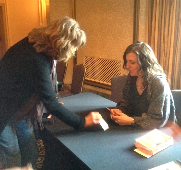 Kathryn Kysar tries to persuade Rebecca Skloot to do a reading in Minnesota.