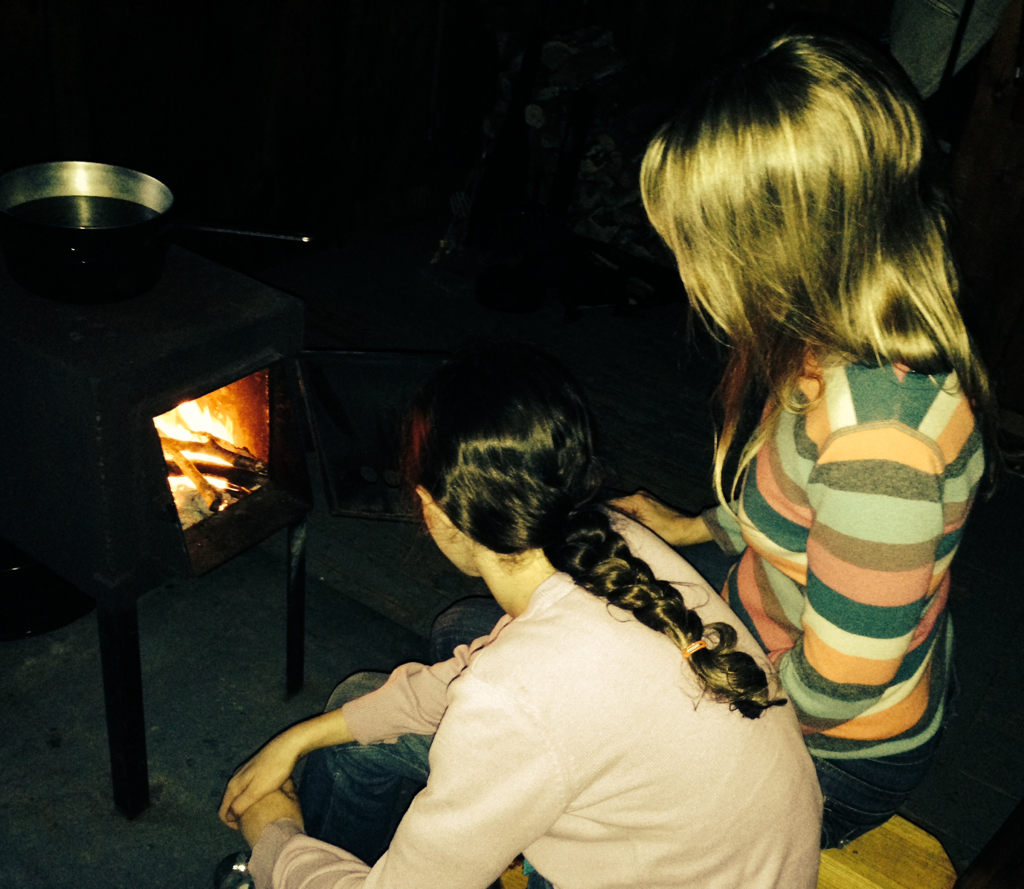 As it turned out, our boredom evolved into several relaxing activities, among them making a fire, a job my daughter and I shared and enjoyed together.