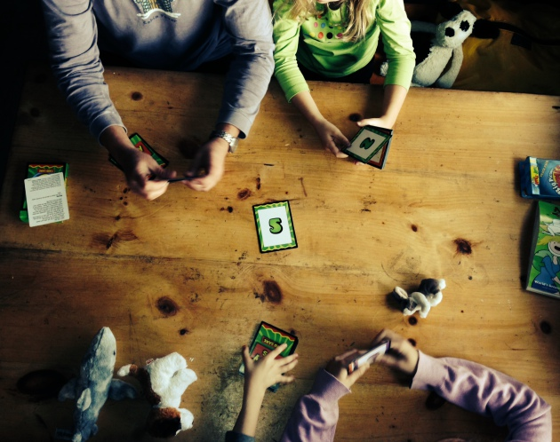 With no cellular service, our family connected instead over a variety of card and strategy games.