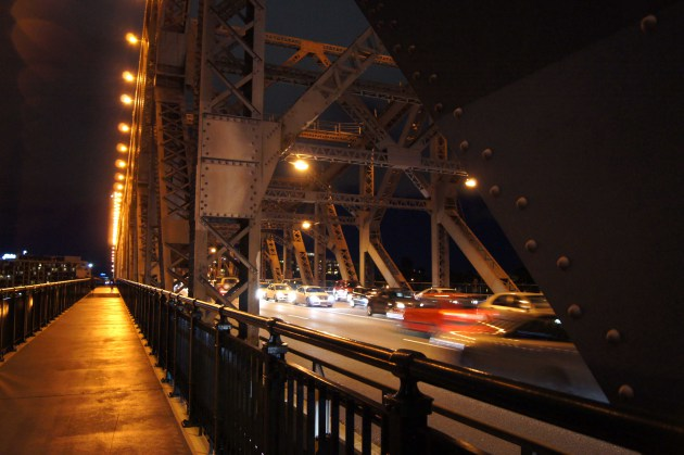 On Story Bridge facing the road... and... traffic.