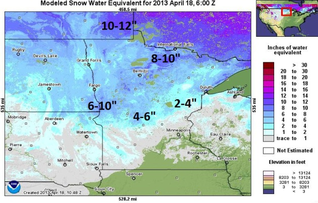 Upside of Heavy Snow in late April Drought is Fading flood risk
