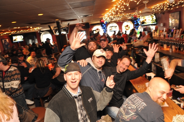 Ford workers gather at Tiffany's Sports Lounge to share memories and celebrate careers.