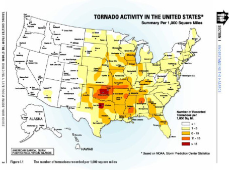Americas Worst Tornado Outbreak And Counting StarTribunecom - Map of tornado frequency in us