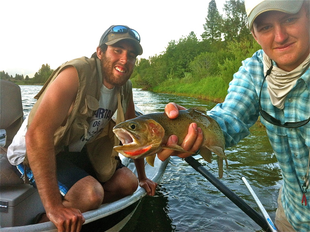My friend Jordan and I with a Blackfoot Cutthroat