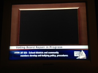 Senate voting board busted