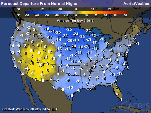 US Temperature January Map National Climate Report December - Average winter temperature us map