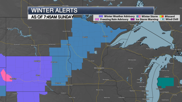 Winter Storm Watch Western/Northern Minnesota – 50s In The Twin Cities Sunday And Monday
