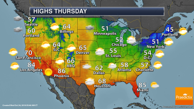National Weather Map Pressure.Thursday Weather Outlook Wet Start To October In The Upper Midwest