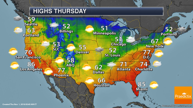 National Weather Map Temperatures Friday Weather Outlook   Wettest October In Dallas   Praedictix