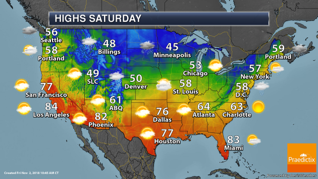 Saturday National Weather Outlook High Wind Potential In The