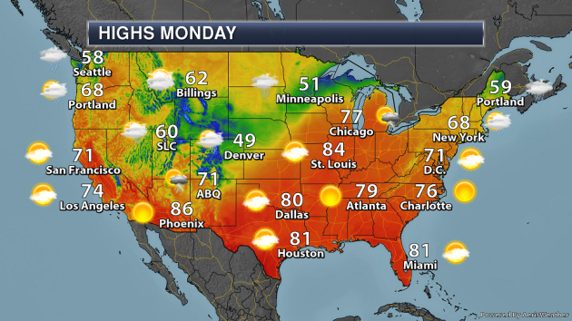 More Upper Midwest Rain - Monday's National Weather Outlook For