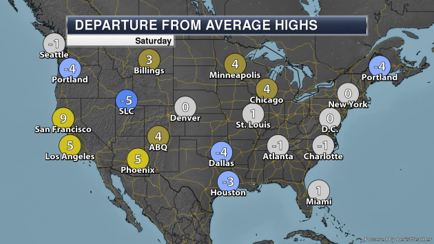 Hot Weather This Weekend Out West – Saturday's National