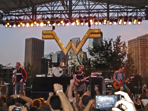 Weezer jammed during the Basilica Block Party this summer