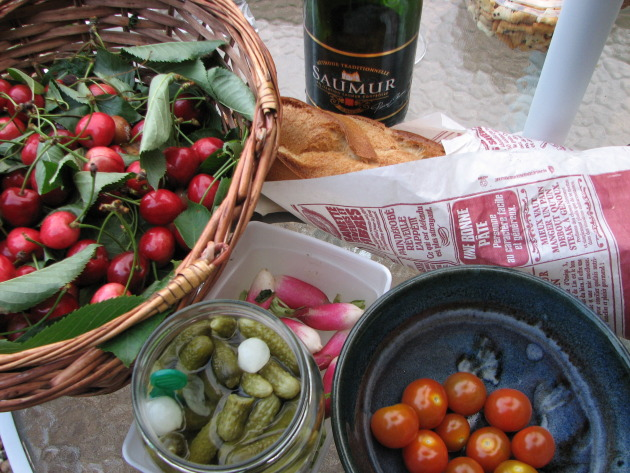 Even a simple garden picnic is enhanced by wine pairing ...