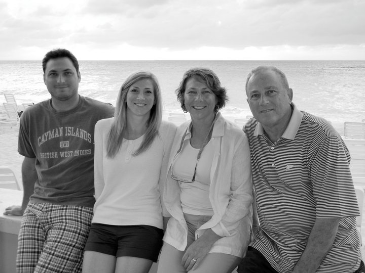 The Zechmann family on vacation. From left to right: Matt, Nicole, Sue and Jim.