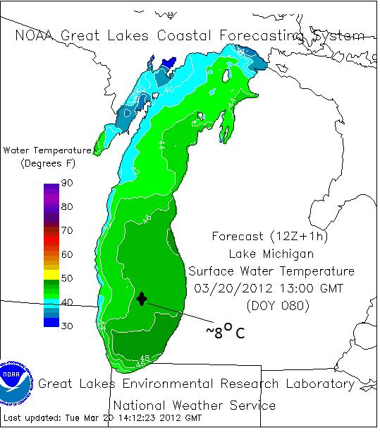 lake michigan water temperature map Lake Michigan Lake Temperature Lake Image 2018 lake michigan water temperature map